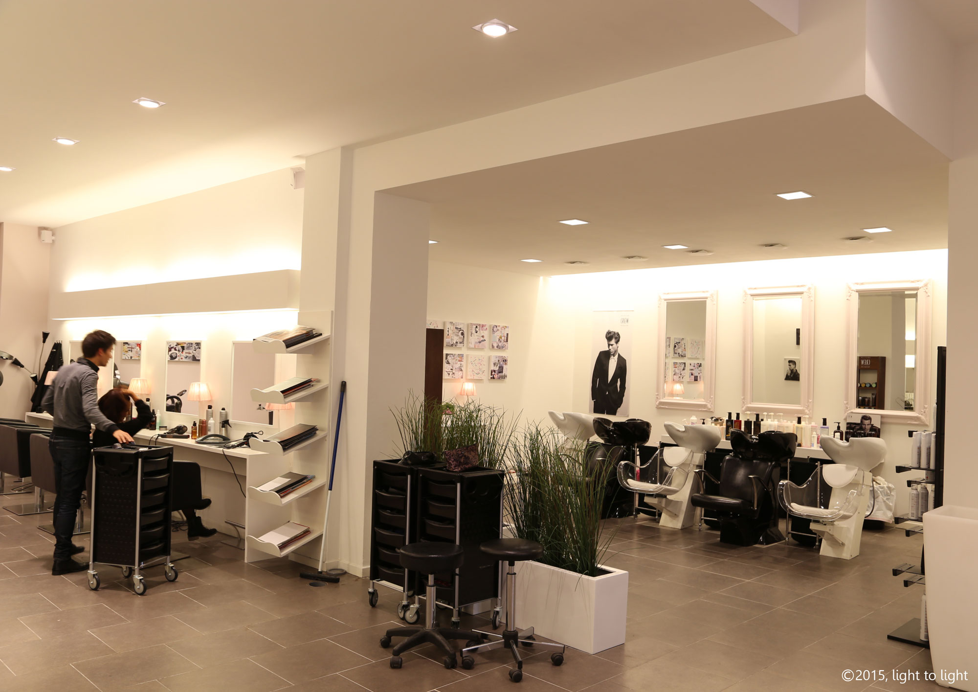 Salon de coiffure le printemps huy light to light - Le salon de coiffure ...